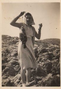 My Grandma in 1942 with the only fish she ever caught