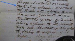Scottish Declaration, Convict, George Brand