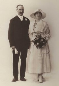 Fletcher Alderwin Brand and Gladys Gwendoline Matheson 10 June 1920 Wedding Day