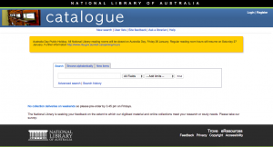 The National Library of Australia Catalogue