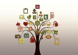 Social Media on a family tree