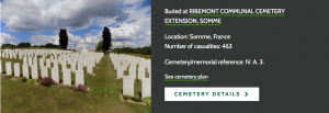 Commonwealth War Graves Commission Ribemont Cemetery Information