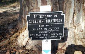 MATHESON Robert Hilton WW1 Memorial Kings Park, Perth, Western Australia