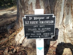 MATHESON Robert Hilton WW1 Memorial Kings Park, Perth, Western Australia
