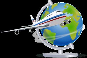 So far away modern travel plane