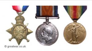 WWI Medals 1914 1915 Star British War Medal Victory Medal