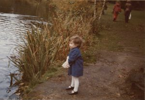 1974 Megan enjoying Valentines Park