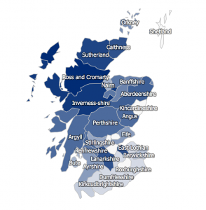 Matheson Surname Distribution Scotland