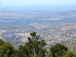 Bunya Mountains view over Western Queensland