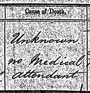 52 Ancestors in 52 Weeks Cause of Death