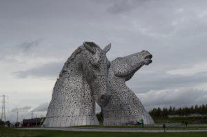 The Kelpies, Falkirk 52 Ancestors in 52 Weeks Thankful