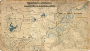 Brisbane Parish Map C1900 Water Supply and Sewerage